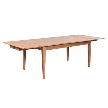 Extending taper leg dining table