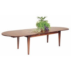 Extending 'D' end dining table