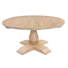 Round Extending Balustrade Table