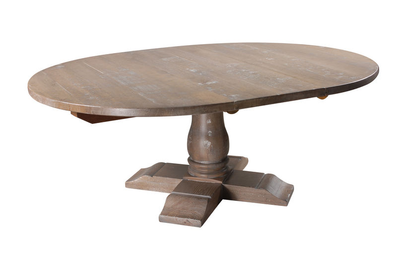 home products dining tables round extending balustrade table