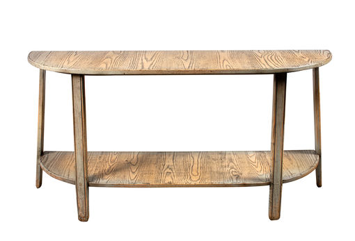 Large Cider Mill Demi Lune Console Table