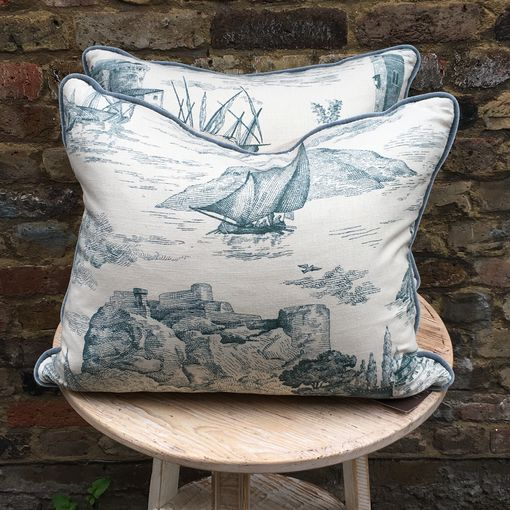 Eau de Nil Fabric Toile Cushion