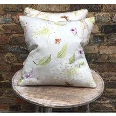 Floral Linen Scatter Cushion