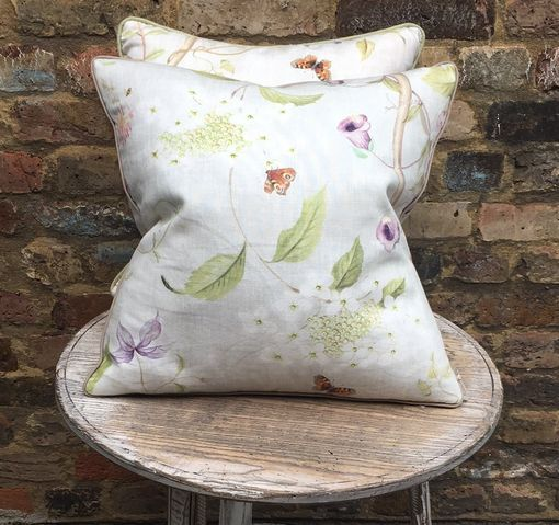 Floral Linen Scatter Cushion