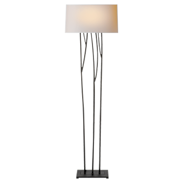 Aspen Floor Lamp in black rust