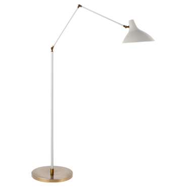 Charlton Floor Lamp in White