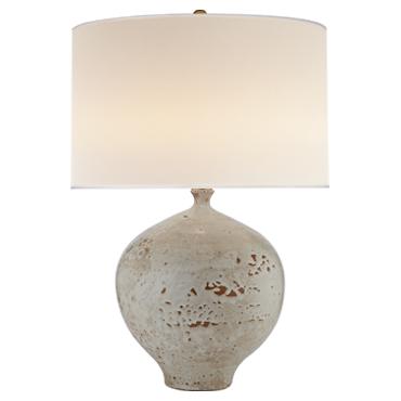 Gaios Table Lamp in Pharaoh White