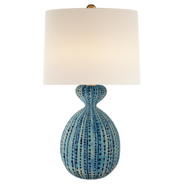 Gannet Table Lamp in pebbled aquamarine