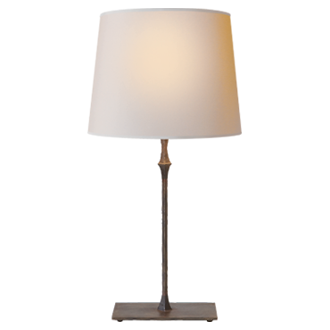 Dauphine Bedside Lamp in aged iron