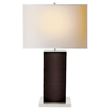 Dixon Tall Table Lamp in Espresso Leather