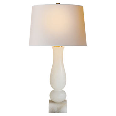 Contemporary Balustrade Table Lamp in Alabaster