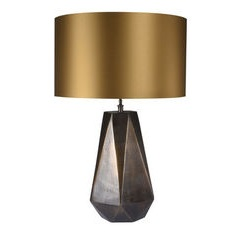 Venus Lamp with Gold Shade