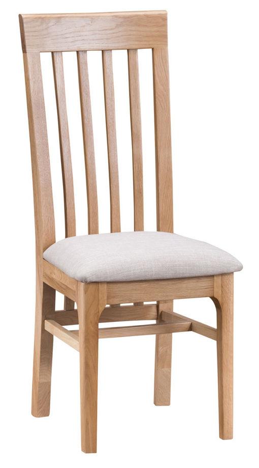Slat Back Dining Chair - fabric seat