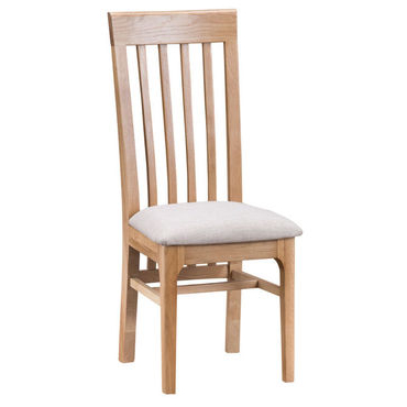 Slat Back Dining Chair - fabric seat