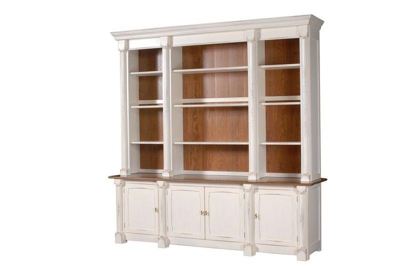 Columned Library Bookcase: Alternative finish option (Premium Charge)