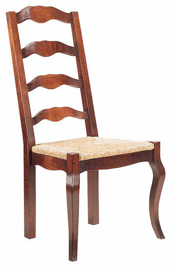 Provencal ladderback Chair with cabriole leg