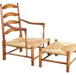 Champagne Chair - Rush seat
