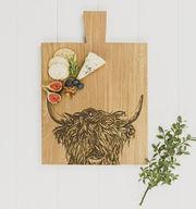 Highland Cow Oak Board