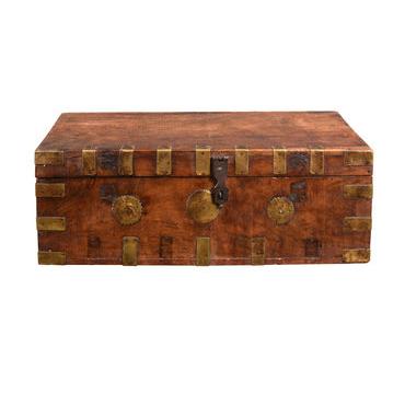 Brass Bound Travelling Box