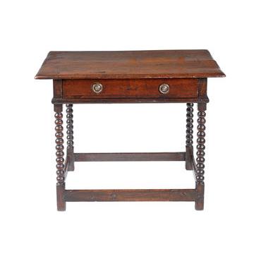 Oak Bobbin Side Table
