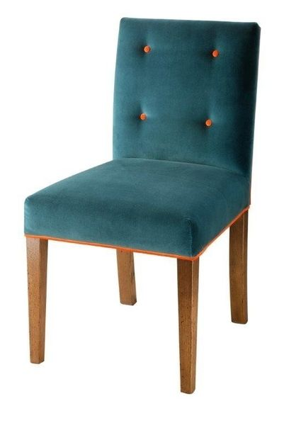 Hampton Low Back Chair: Shown with optional button back