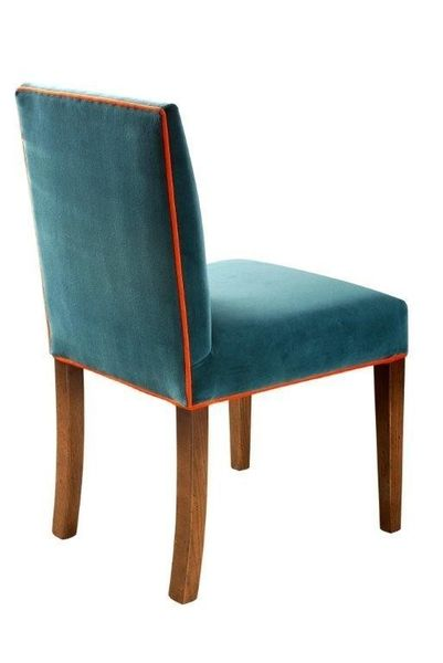 Hampton Low Back Chair: Shown with contrast piping