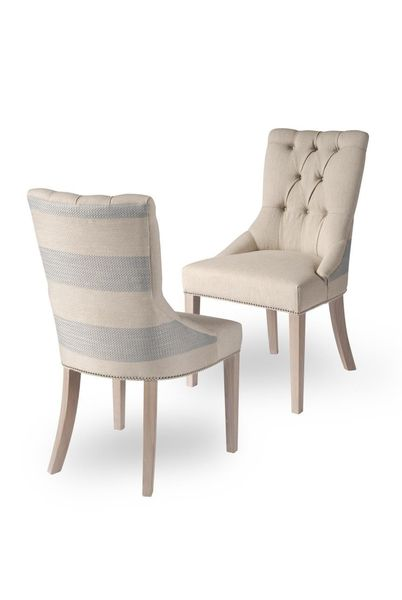 Petersham side chair: Petersham chair showing front and back details
