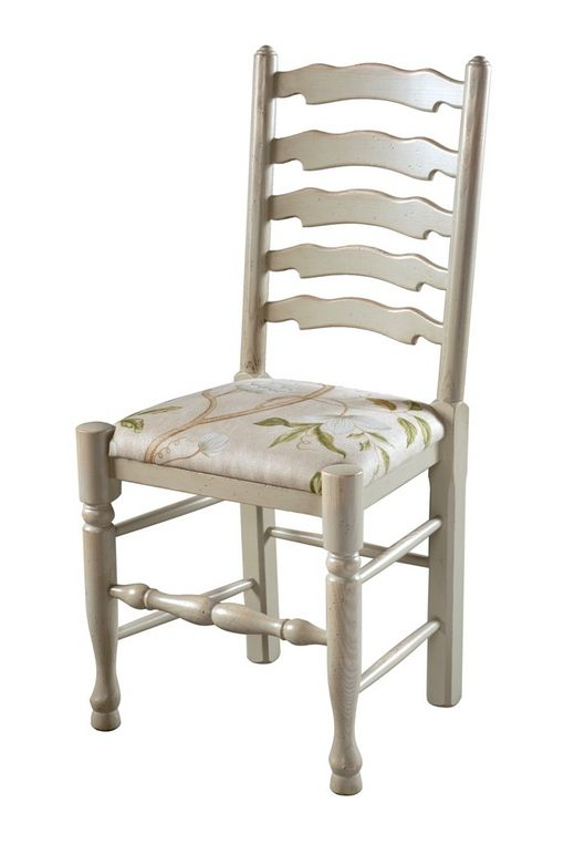 Wavyline Ladderback chair with Upholstered seat: U718 small upholstered chair