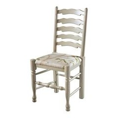 Wavyline Ladderback chair with Upholstered seat
