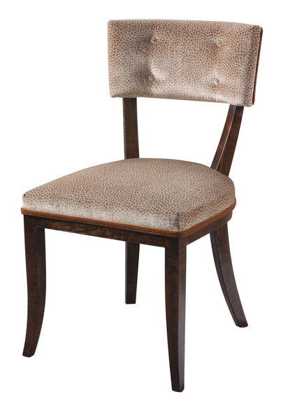 Chelsea Chair: Shown with button back option