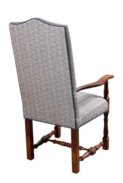 Elizabethan Turned Leg Upholstered Chair: U909 Arm back