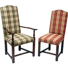 Elizabethan Straight Leg Upholstered Chair