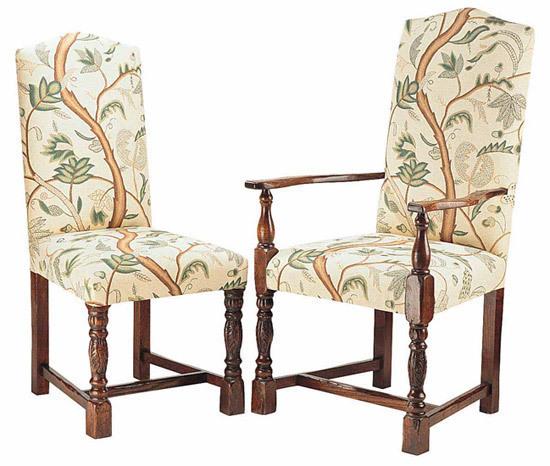 Elizabethan Bulbous leg upholstered chair