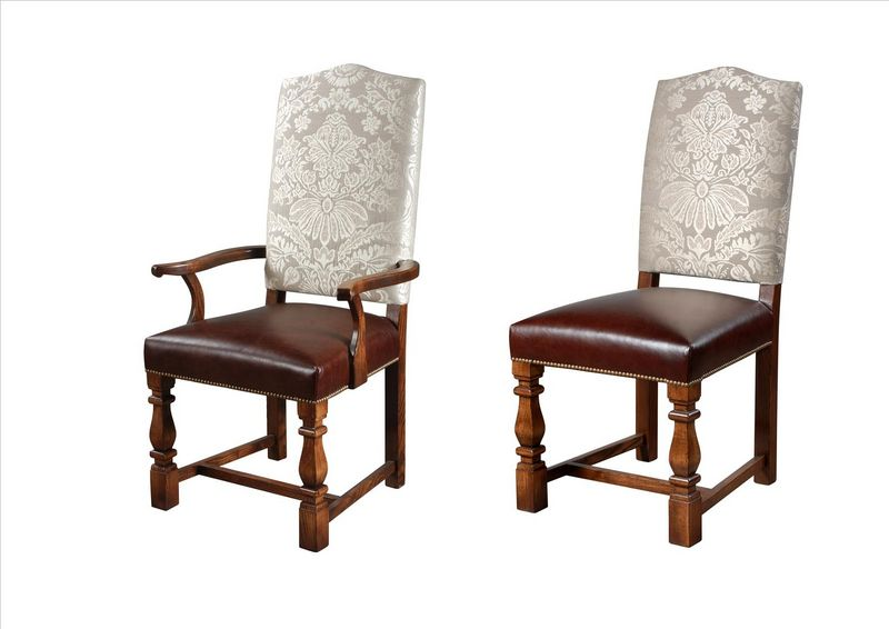 Click Images To Zoom Elizabethan Tuscany Leg Upholstered Chair Back To All  Our Dining Chairs
