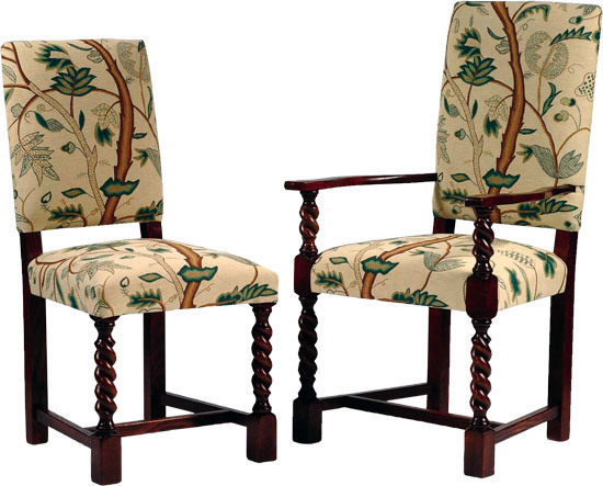 Elizabethan Barley Twist Upholstered Chair Upholstered Chairs