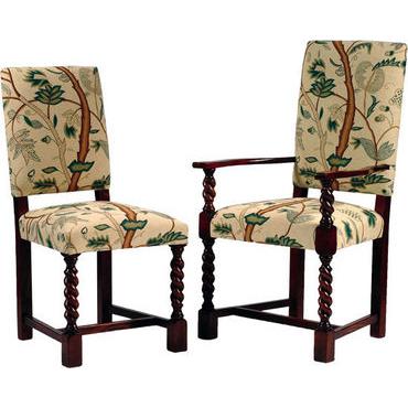 Elizabethan Barley Twist Upholstered chair