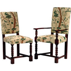 Elizabethan Barley Twist Upholstered chair