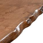Bespoke Wany Edge Table with metal base